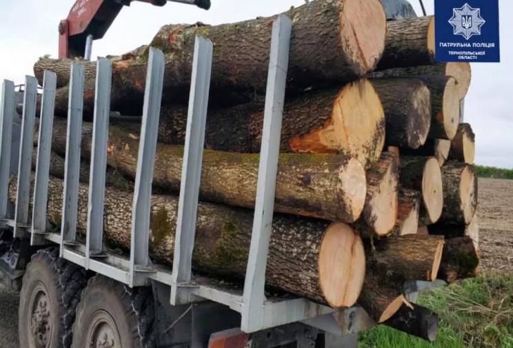 Вантажівку з деревиною зупинили на Терно…