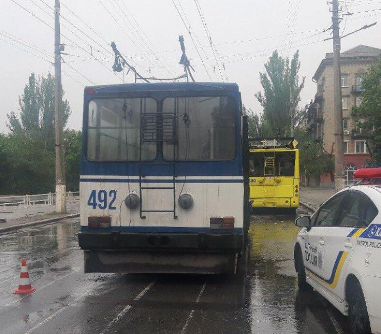 У Херсоні зіткнулися два тролейбуси, пос…