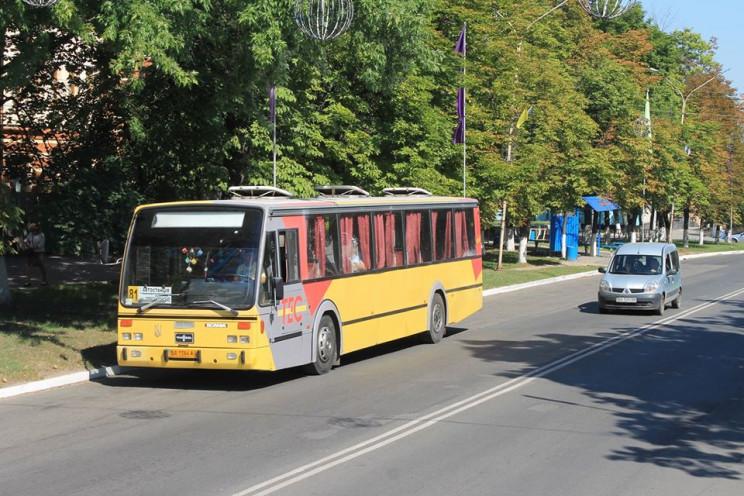В Олександрії автобуси курсуватимуть за…