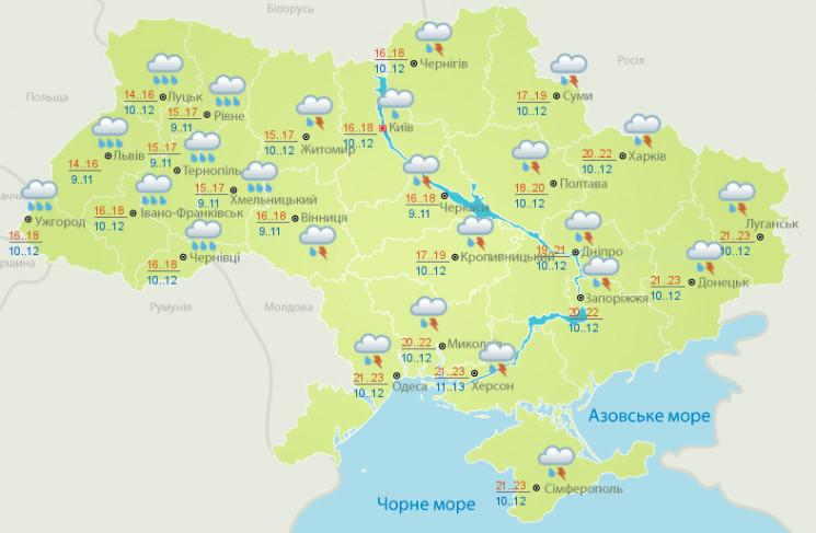 Погода: Дощі та грози в Україні надовго…