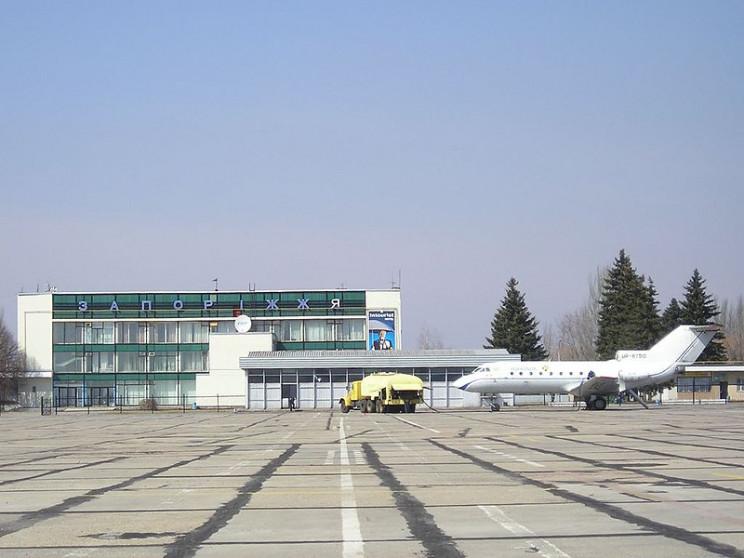 В запорожский аэропорт снова пришли сило…