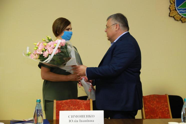 Председатель Запорожской ОГА в Бильмаке…