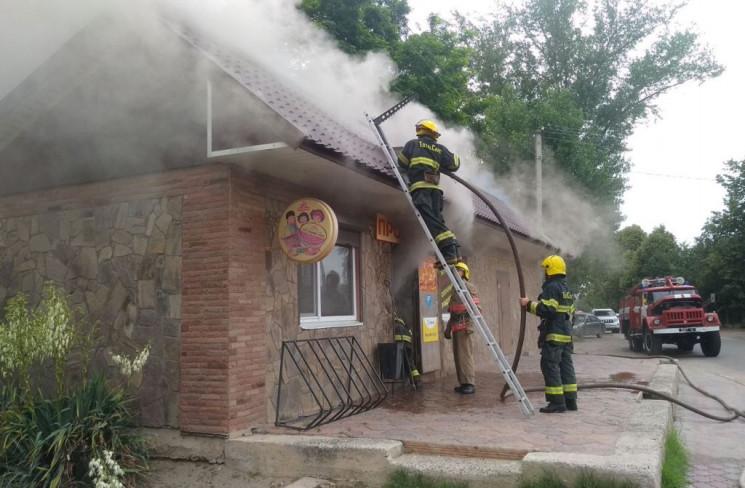 На Херсонщині спалахнув магазин…