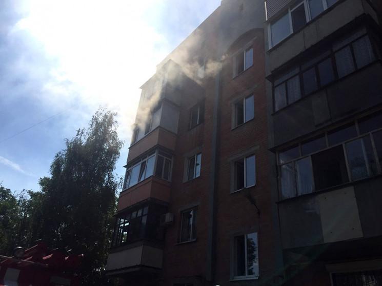 У Полтаві сталась пожежа в п'ятиповерхів…
