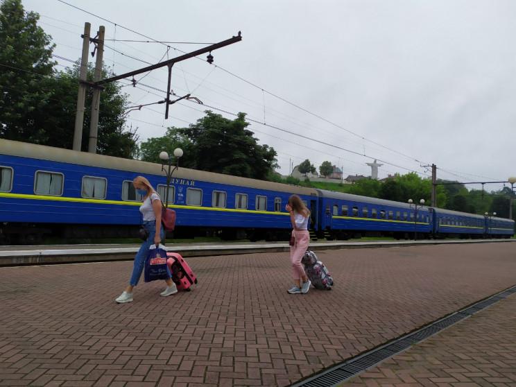 Як у Трускавець прибув перший потяг з Ки…