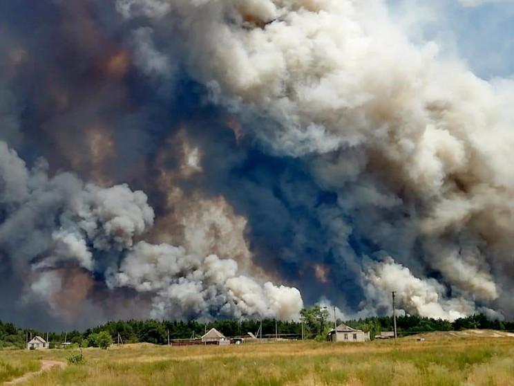 На Луганщину гасити лісову пожежу вируши…