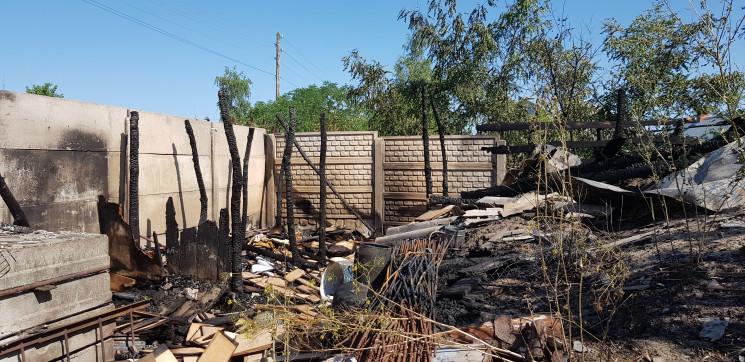 Под Харьковом горело частное подворье…