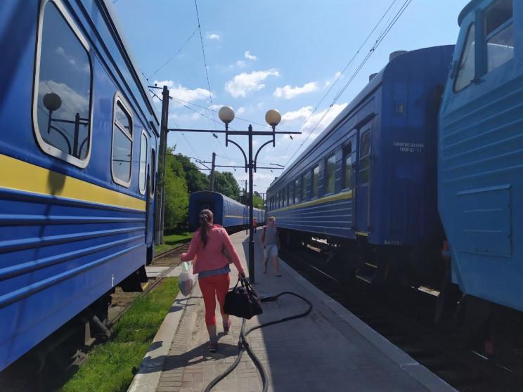 Як у Трускавець прибув перший потяг з Дн…