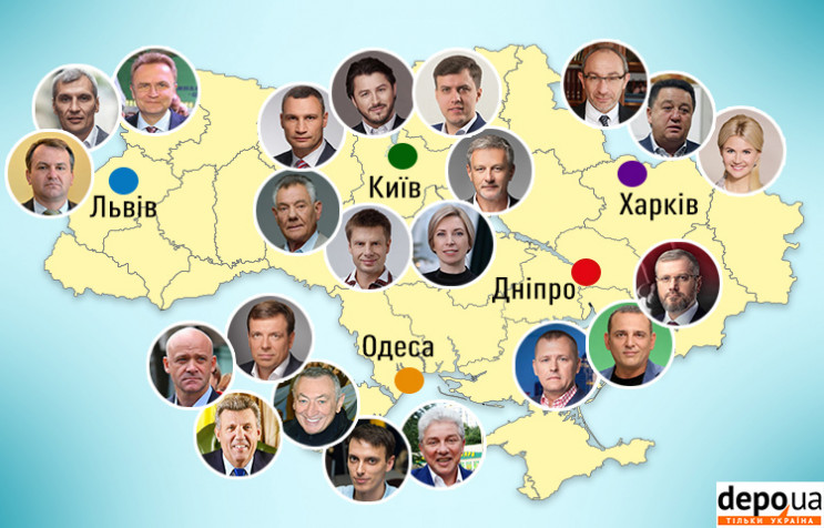 Основные кандидаты в мэры крупнейших гор…