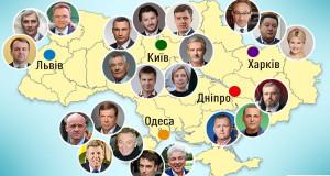 Основні кандидати в мери найбільших міст…