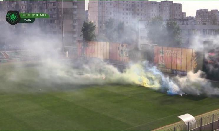 """Фанати влаштували безлади на матчі """"Мета…"""