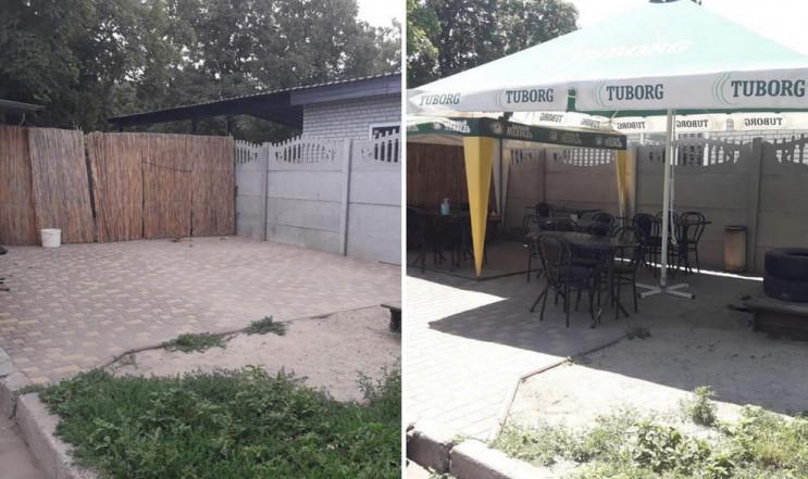 В Запорожье демонтировали летнюю площадк…