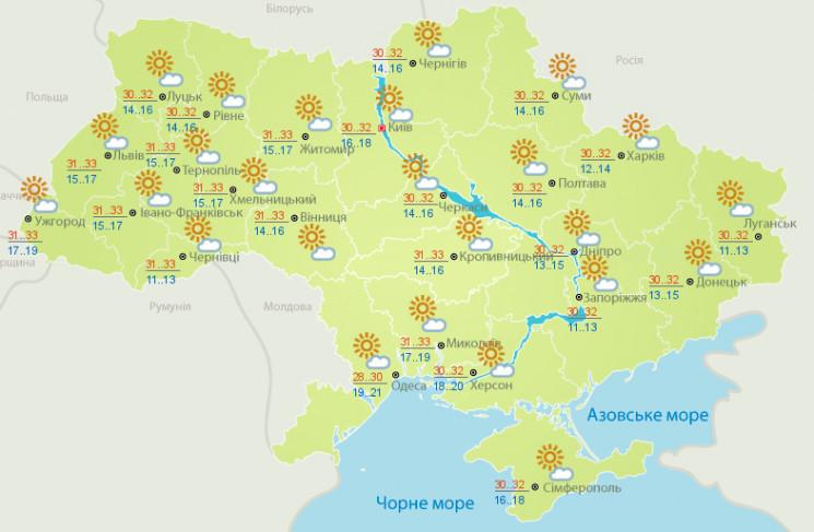 До кінця літа Україну очікує спека…