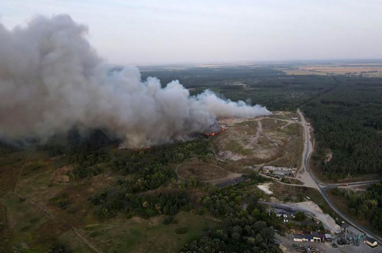 На Полтавщині загасили палаюче сміттєзва…