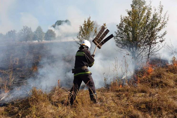 На Харківщині спалахнув 1 га трави: Вого…