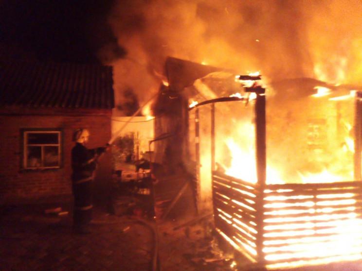 На Херсонщині згоріла лазня…