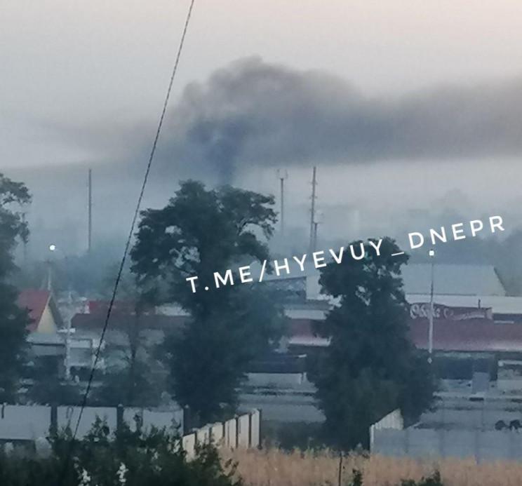Зранку над Дніпром помітили сильний смог…