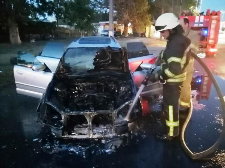 В Херсоне сгорел автомобиль Subaru…