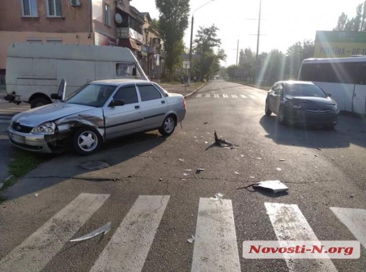 У Миколаєві зіткнулися дві автівки: Пост…