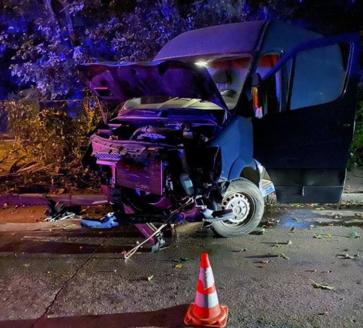 В Херсоне пьяный водитель разбил микроав…