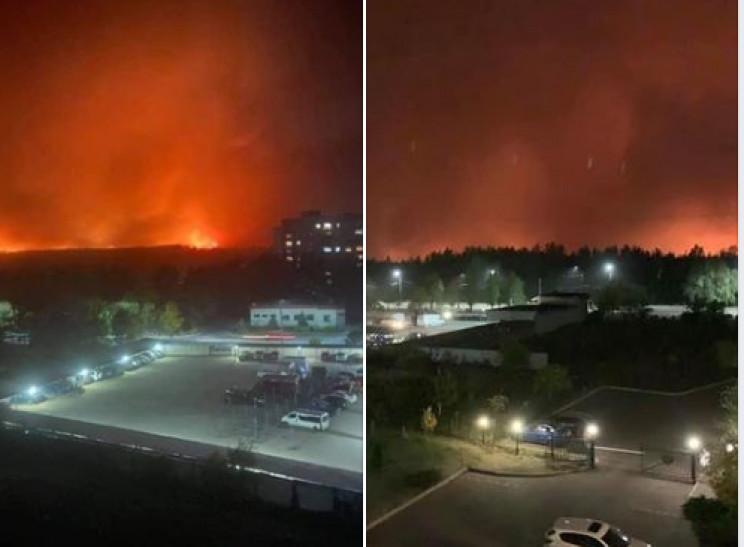 На Луганщині вогонь підібрався впритул д…