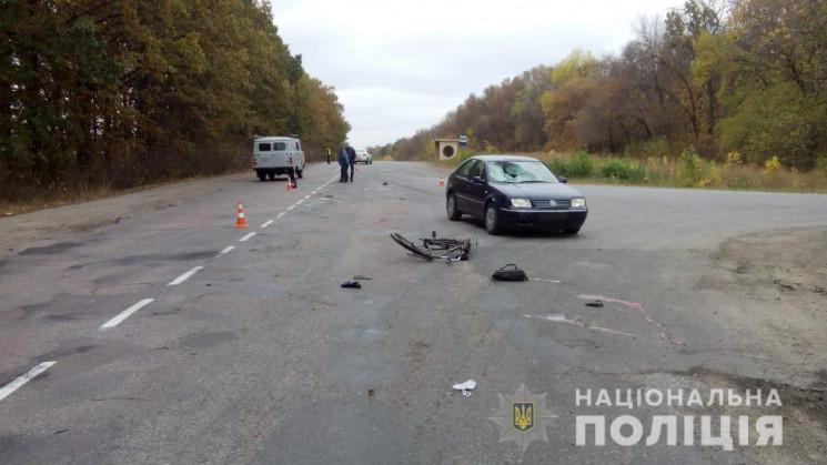 У Сумах Volkswagen збив велосипедиста. З…