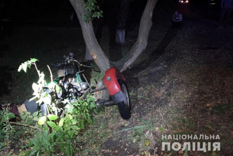 На Донеччині 20-річний мотоцикліст потра…