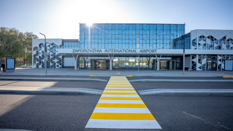 Первый рейс из нового терминала запорожс…