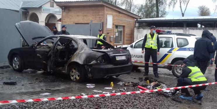 В Дрогобыче подожгли автомобиль кандидат…