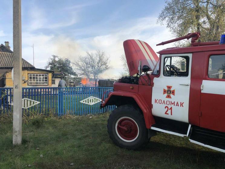 На Харьковщине более двух часов тушили п…