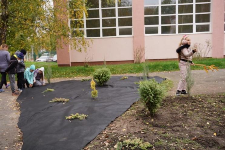 На Вишеньці учні двох шкіл садили дерева…