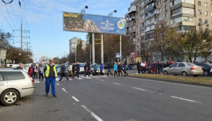 В Одесі торговці ринку блокували дорогу,…