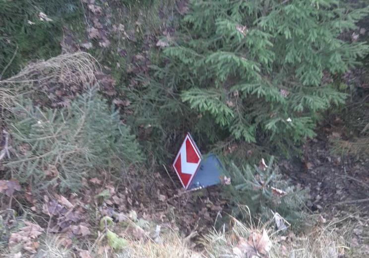 """Вандали понівечили знаки на дорозі """"Нижн…"""