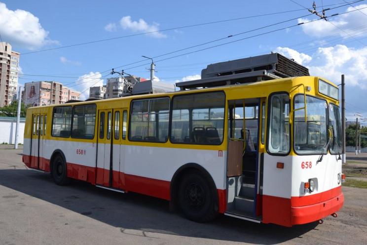 Один з тролейбусних маршрутів в Одесі по…