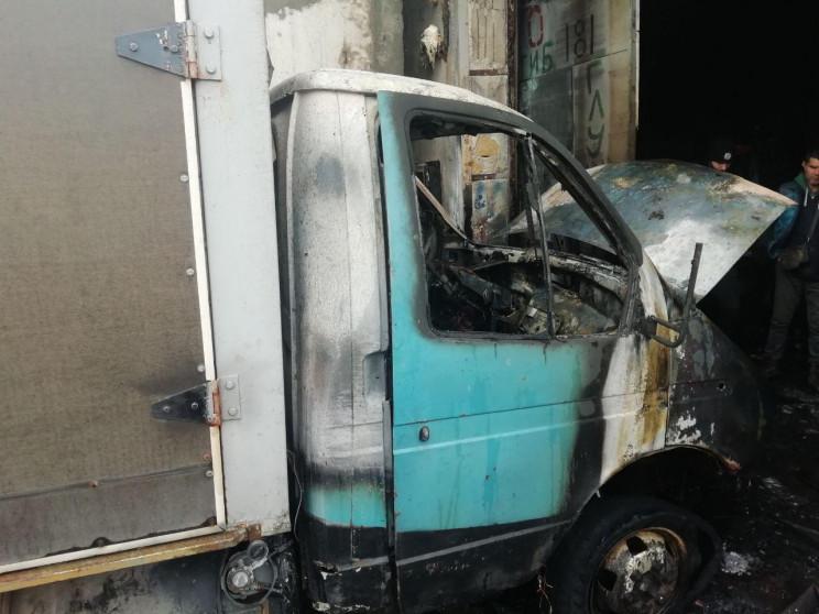 В Запорожье сгорел грузовик…