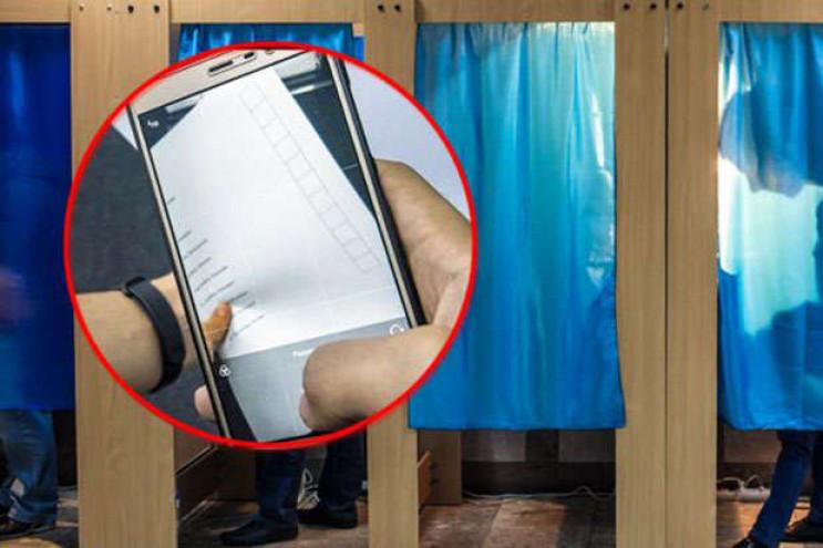 Фотографування бюлетенів та голосування…