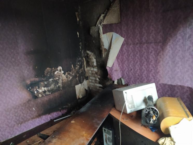 На Харьковщине вспыхнула квартира в девя…