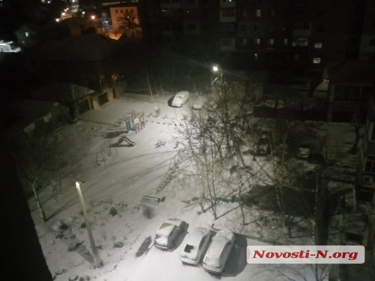 Як Миколаїв засипало снігом…