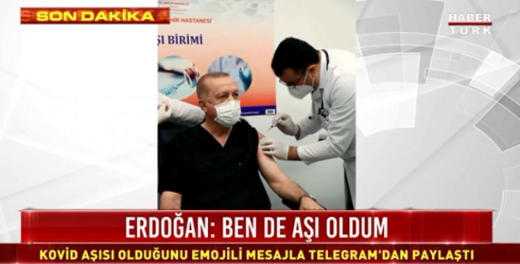 Ердоган вакцинувався від коронавірусу ки…