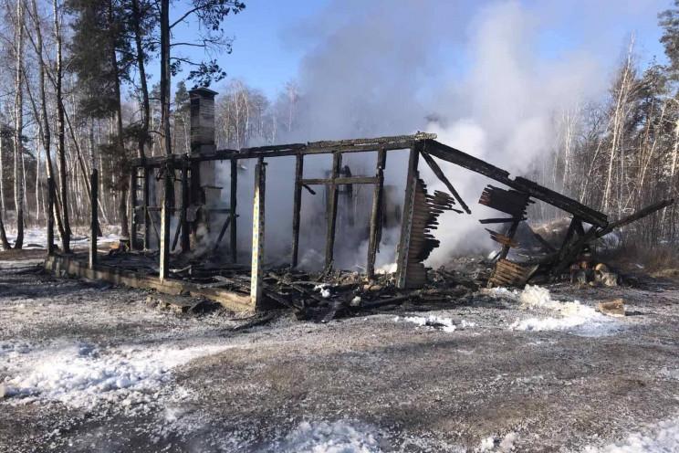 На Харківщині серед ночі сталася пожежа…
