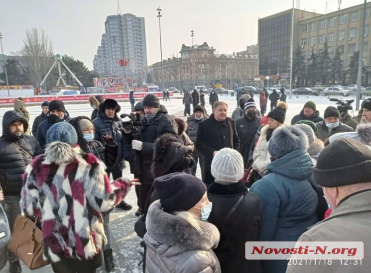 В Николаеве на морозе люди митингуют про…