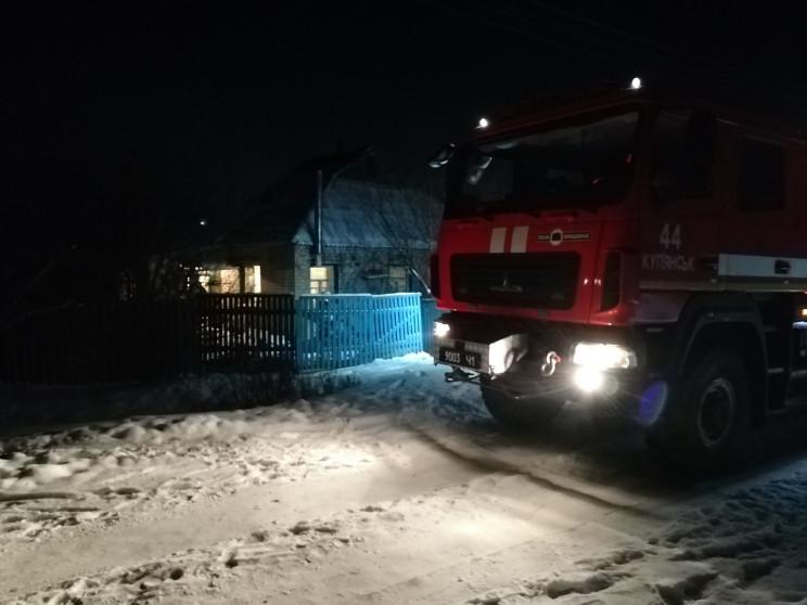На Харьковщине загорелся частный дом…