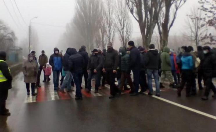 В Каменском митингующие перекрыли трассу…
