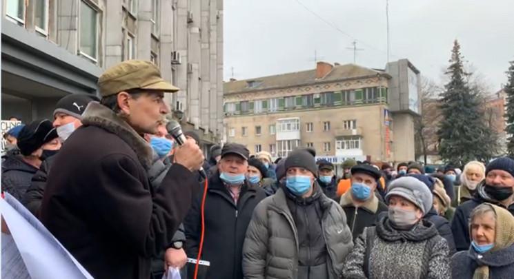 """Жители Винницы вышли на """"тарифный майдан…"""