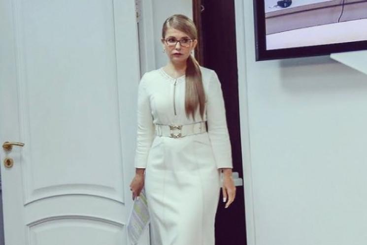 Юлія Тимошенко у модній сукні підкреслил…