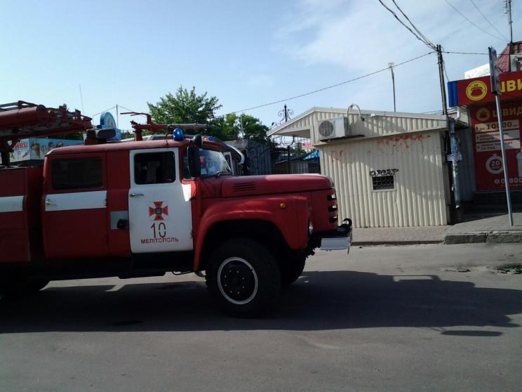 В Мелитополе горит центральный рынок…
