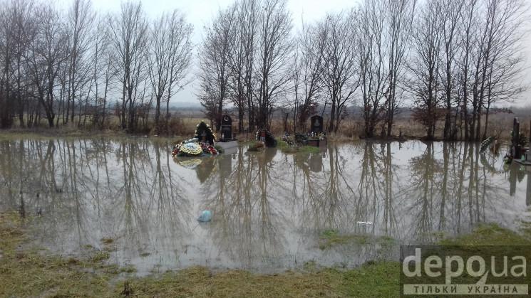 Затоплене кладовище у Мукачеві: Як залит…