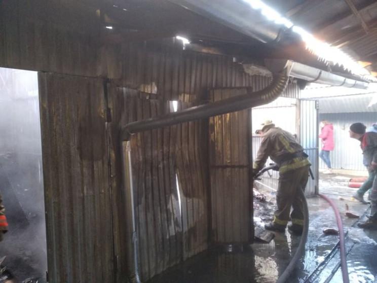 У Виноградові на ринку сталася пожежа…