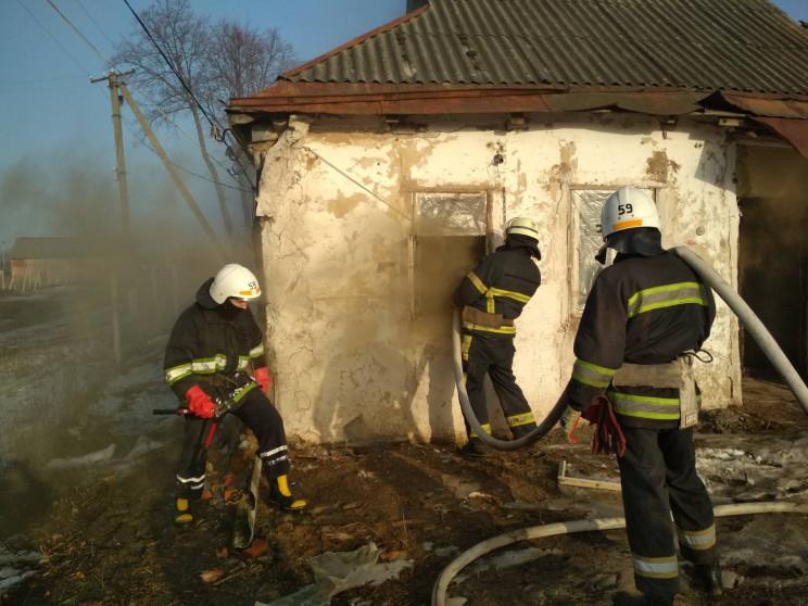 Горела стена и домашние вещи: Харьковски…