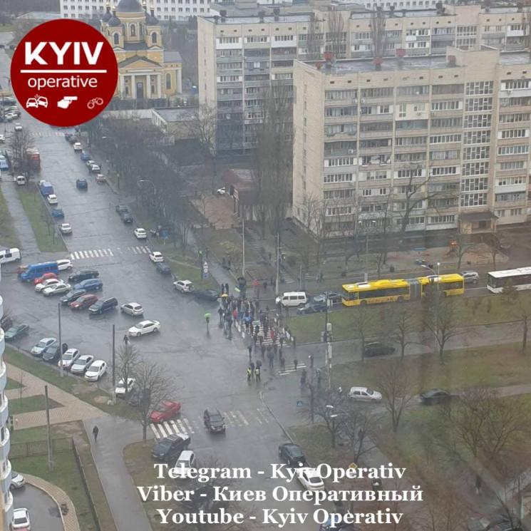 У Києві мітингувальники перекрили дорогу…